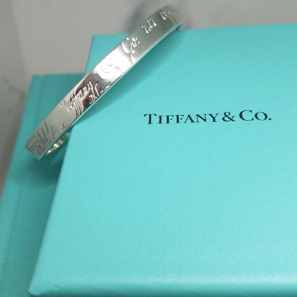 Tiffany & Co. Bangle 1837  Fifth Avenue Script